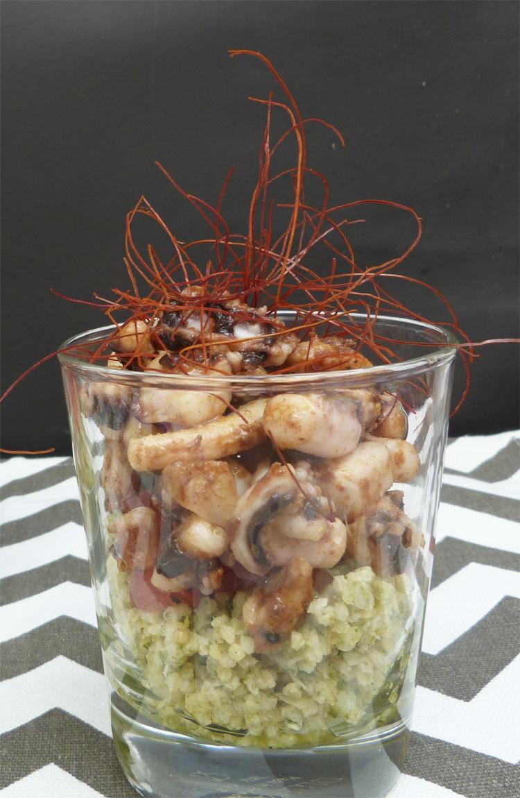 Ensalada de mill i calamars picants